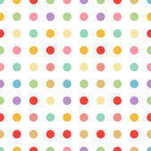 Seamless pastel dot background vector — Stock Vector