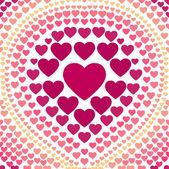 Naadloze roze hart abstracte achtergrond vector — Stockvector