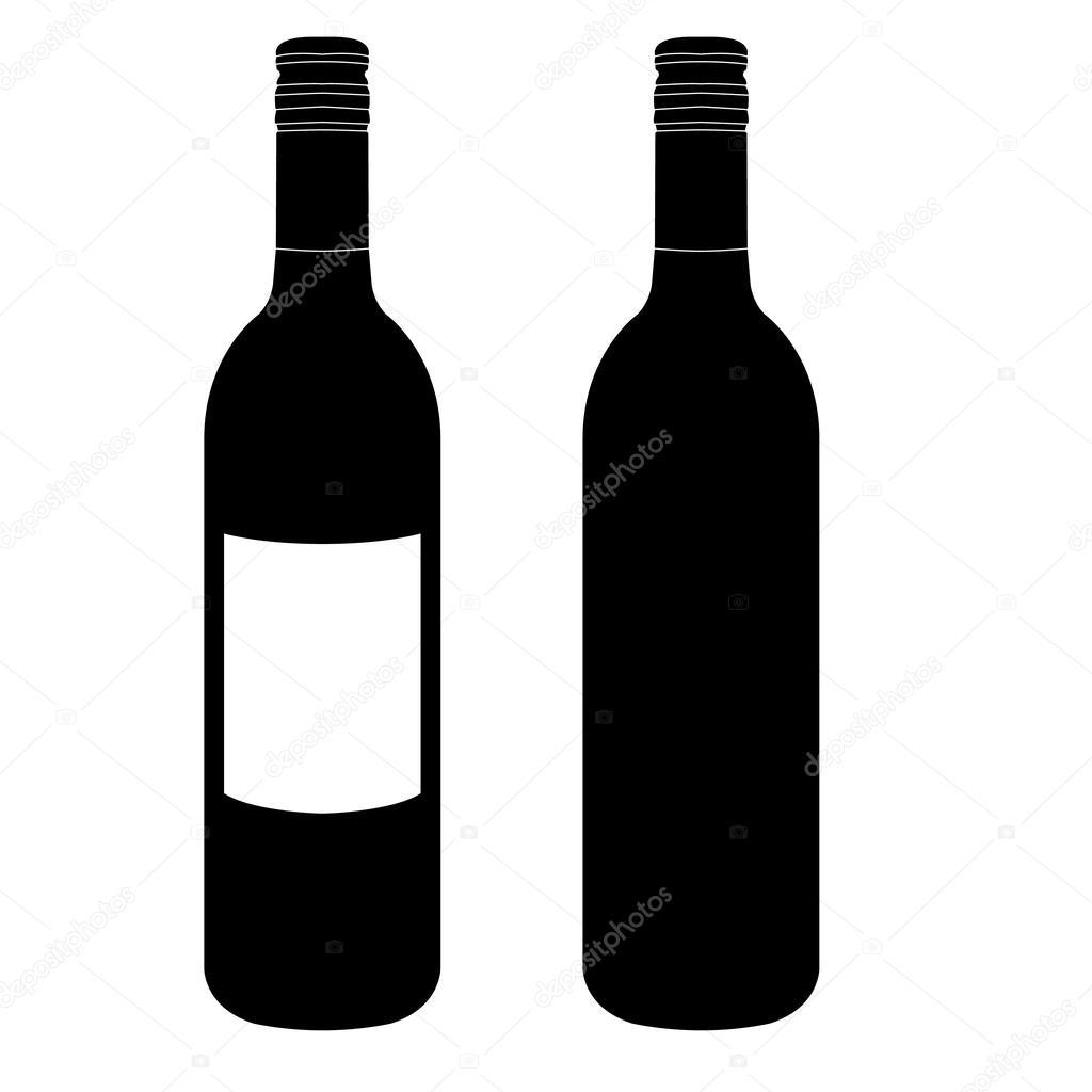 Wine bottle vector — Stock Vector © attaphongw #24420435