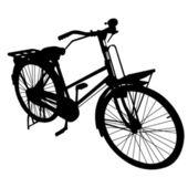 Rower rower siluate wektor — Wektor stockowy