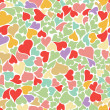Royalty-Free Stock Vector Image: Seamless pastel heart background vector