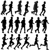 Run Silhouette vector — Stock Vector