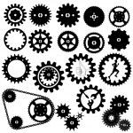 Gears silhouette vector — Stock Vector #26022309