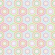Seamless Hexagon pattern background — Stock Vector