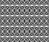 Seamless circle Chain pattern background vector — Stock Vector