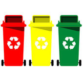 Recycle bin vector — Stock Vector