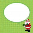 Santa claus with speech bubble vector — Stock Vector