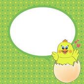 Huhn mit sprechblase — Stockvektor