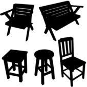 Vettoriale silhouette sedia — Vettoriale Stock