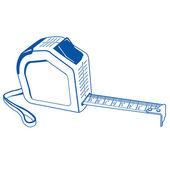 Cartuchos metros contorno azul vector — Vetorial Stock