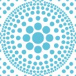 Seamless blue polka abstract pattern vector — Stock Vector