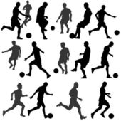 Football silhouette vector — Vettoriale Stock