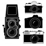 Camera vintage camera vector — Stock Vector