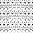 Seamless Pattern Of Sunglasses Frames Vector.eps — ベクター素材ストック