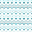 Seamless Blue Pattern Of Sunglasses Vector.eps — Stock Vector