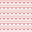 Seamless Red Pattern Of Sunglasses Vector.eps — ベクター素材ストック