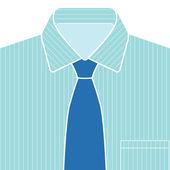 Shirt and Tie Vector — Stock Vector