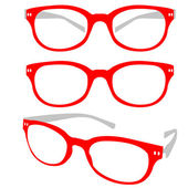 Red Spectacle Vector — Stock Vector