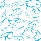 Seamless Blue Spectacle Pattern Vector — Stock Vector