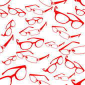 Seamless Red Spectacle Pattern Vector — Stock Vector