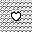 Seamless Heart Pattern Vector — ベクター素材ストック