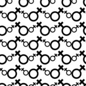 Seamless Female Symbol Pattern Background Vector — Stock Vector