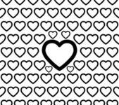 Seamless Heart Pattern Vector — Stock Vector