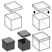 Kutu vektör — Stok Vektör