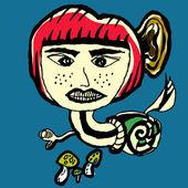 Snail Devil Abstarct Cartoon Vector — Stock Vector