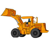 Back Hoe Vector — Stock Vector