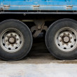 Stock Photo: Wheel and tire of truck and trailers