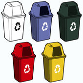 Vector de papelera de reciclaje — Vector de stock