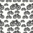 Seamless pattern of sketch bicycle vector — Stock Vector