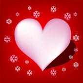 Heart with Koch snowflake vector — Stock Vector
