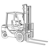 Forklift outline vector — Stock Vector