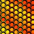 Seamless Honeycomb pattern vector — Stock Vector