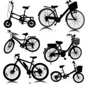 Vetor de moto de bicicleta — Vetor de Stock