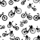 Seamless bicycle bike vector — Stock Vector