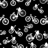 Seamless white bicycle bike vector — Vector de stock
