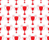 Red Seamless pattern with trophy vector — Stock Vector
