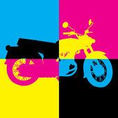 Vintage motorcycle — Stock Vector