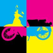 Vintage motorcycle vector — ストックベクタ