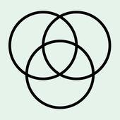 Tri circle vector — Stock Vector