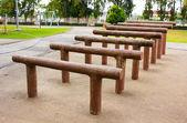 Výkon zařízení ve veřejném parku — Stock fotografie