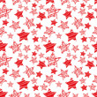 Seamless red star pattern vector — Stock Vector #40991643