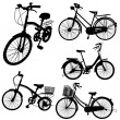 Set of bicycle vector — Stock Vector