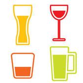 Drinking glass collection  vector — Stock Vector