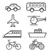 транспорт значок задать вектор — Cтоковый вектор