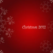 Christmas 2012, abstract background with white snow flakes — Stock Photo