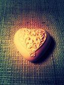 Vintage stone heart — Stock Photo
